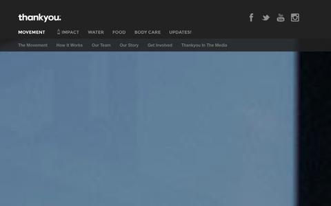 Screenshot of Press Page thankyou.co - Thankyou - Movement - captured Oct. 31, 2014