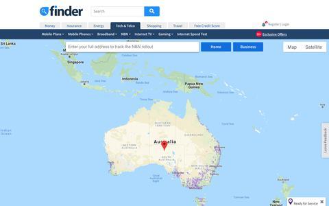 Screenshot of Maps & Directions Page finder.com.au - NBN Rollout Map: See When You'll Get NBN | finder.com.au - captured Nov. 7, 2018