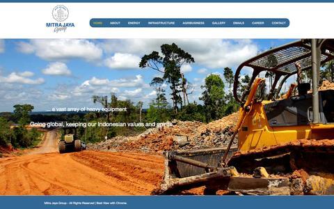 Screenshot of Home Page mitrajaya.co.id - Mitra Jaya Group | Energy, Coal, Mining, Infrastructure, Agribusiness - captured Oct. 7, 2014