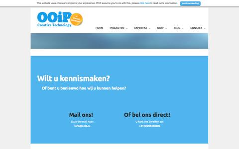 Screenshot of Contact Page ooip.nl - OOiP | Creative Technology | Contact | OOiP | Creative Technology - captured Oct. 26, 2014