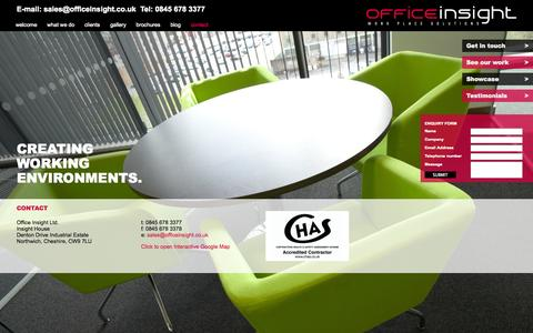 Screenshot of Contact Page officeinsight.co.uk - Officeinsight | Contact us - captured Oct. 27, 2014