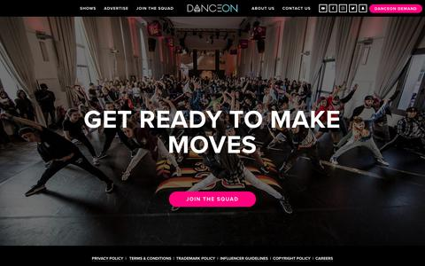 Screenshot of Signup Page danceon.com - JOIN THE SQUAD — DanceOn - captured June 3, 2017