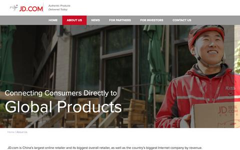 Screenshot of About Page jd.com - JD.com, Inc. - captured Oct. 19, 2018
