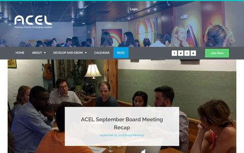 Screenshot of Blog acelfl.com - Blog - ACEL - captured Oct. 3, 2018