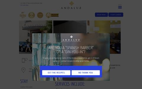 Screenshot of Services Page hotelandaluz.com - Services   Hotel Andaluz - captured May 23, 2017