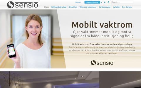 Screenshot of Home Page sensio.no - Hjem - Sensio AS - captured Jan. 21, 2016