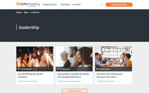 Screenshot of Team Page gotomeeting.com - leadership Archives - GotoMeeting - captured June 13, 2019