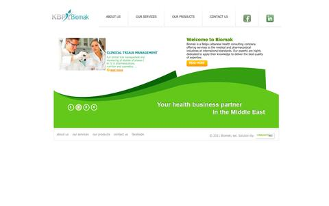 Screenshot of Home Page biomak-sal.com - Biomak - Your Health business partner in the middle east - captured Oct. 5, 2014
