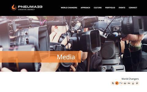 Screenshot of Press Page pneuma33.com - Pneuma33 Media - Pneuma33 - captured Dec. 10, 2015