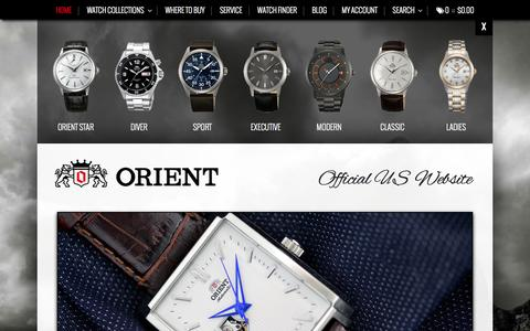 Screenshot of Home Page orientwatchusa.com - Automatic Watches   Orient Watch USA - captured Sept. 19, 2014