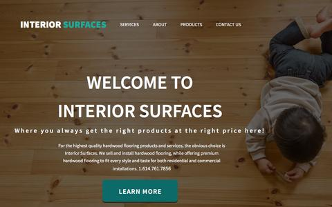 Screenshot of Home Page About Page Contact Page Products Page Services Page interior-surfaces.com - Interior Surfaces - captured Jan. 9, 2016