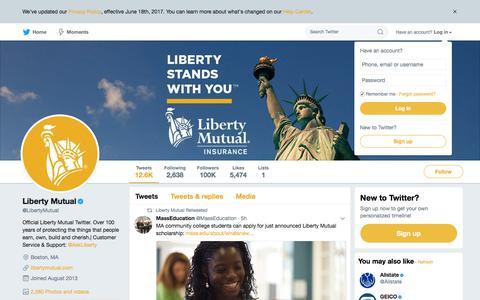 Liberty Mutual (@LibertyMutual) | Twitter