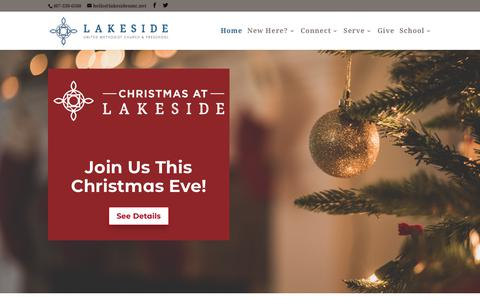 Screenshot of Home Page lakesideumc.net - Lakeside Fellowship United Methodist Church and Preschool in Sanford, Fl - captured Nov. 23, 2018