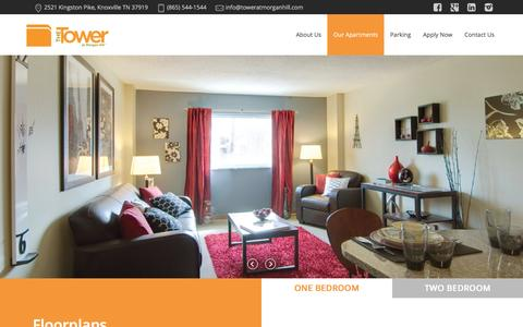 Screenshot of Contact Page toweratmorganhill.com - Our Apartments - The Tower at Morgan Hill - captured Feb. 25, 2016