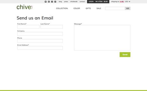 Screenshot of Contact Page chive.com - Contact Us | Chive - captured Sept. 19, 2014
