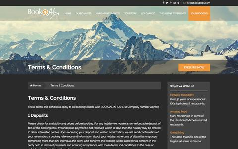 Screenshot of Terms Page book4alps.com - Terms & Conditions - Book4Alps | Ski Resort Chalets | Les Carroz, French Alps - captured Oct. 29, 2014