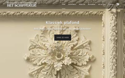 Screenshot of Home Page het-schippertje.nl - Sierlijsten en Ornamentengieterij |Het Schippertje - captured Jan. 29, 2016