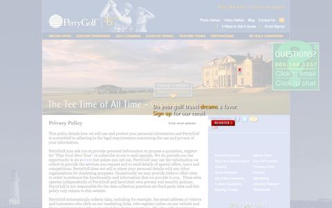 Screenshot of Privacy Page perrygolf.com - Golf Travel | Golf Scotland | Ryder Cup & British Open Information | Perry Golf - captured July 20, 2015