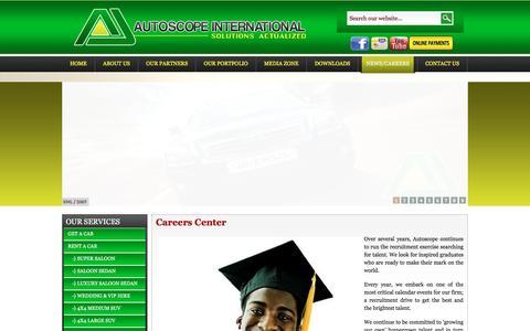 Screenshot of Jobs Page autoscopeinternational.com - Autoscope Co. Ltd | Careers Center - captured Feb. 5, 2016