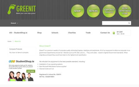 Screenshot of About Page greenit.ie - GreenIT - captured Oct. 29, 2014