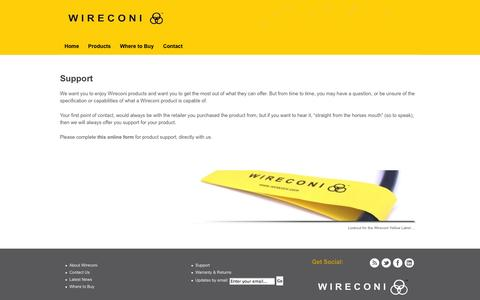 Screenshot of Support Page wireconi.com - Wireconi Support Pages | Wireconi UK - captured Oct. 1, 2014
