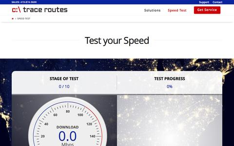 Screenshot of tracerts.com - Speed Test - Trace Routes - captured March 19, 2017
