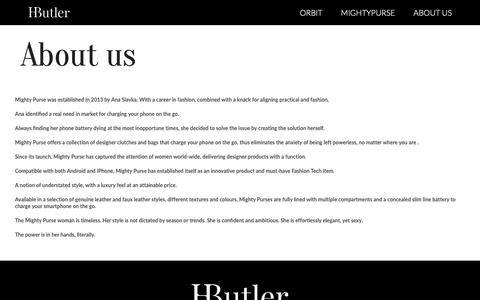 Screenshot of About Page hbutler.co - About  Us - captured Sept. 26, 2018