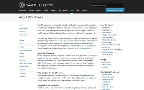 WordPress › About