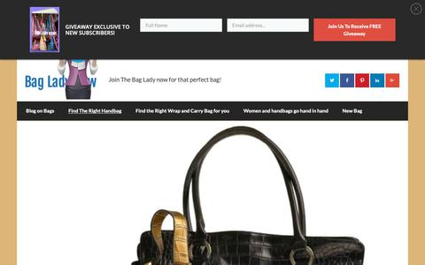 Screenshot of Home Page bagladynow.com - Bag Lady Now - captured Nov. 27, 2018