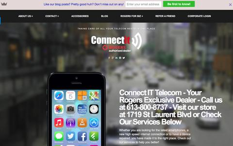Screenshot of Home Page weconnectit.ca - Rogers St Laurent and Innes - ConnectIT (Smartphones, Tablets, Internet, Landlines, Cable TV, Rogers Home Phone, Smart Home Monitoring) - Taking care of all your telecom needs in one place - captured Nov. 10, 2016