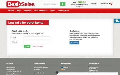 Screenshot of Login Page dealsales.dk - Log-ind - captured Oct. 12, 2017