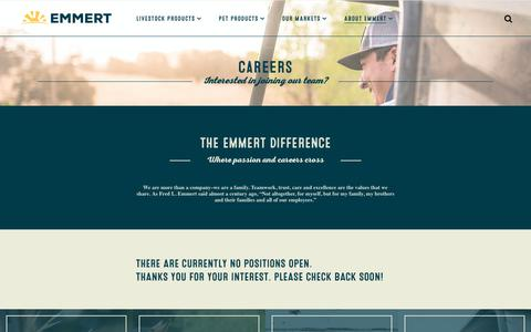 Screenshot of Jobs Page emmert.com - Careers – Emmert - captured Dec. 21, 2018