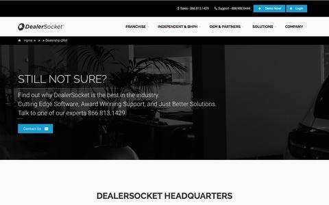 Screenshot of Contact Page dealersocket.com - Dealership CRM - captured July 4, 2016