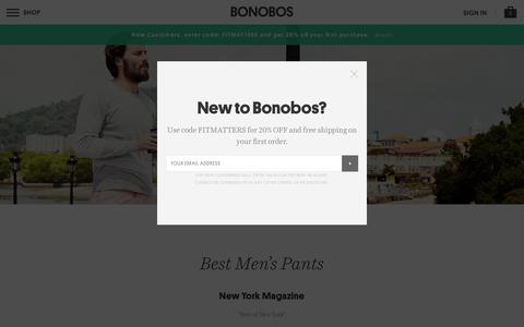 Screenshot of Press Page bonobos.com - Press | Bonobos - captured Nov. 21, 2015