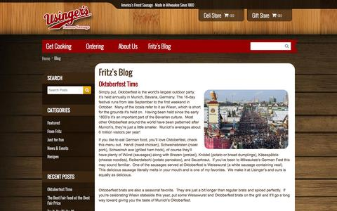 Screenshot of Blog usinger.com - Fritz's Blog - captured Oct. 6, 2014