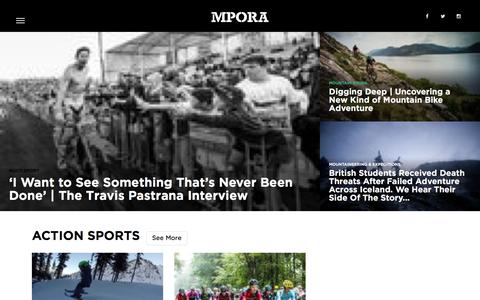 Screenshot of Home Page mpora.com - Mpora - captured Jan. 13, 2016