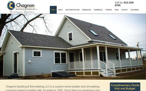Screenshot of Home Page chagnon-br.com - Bathroom Remodeling North Hampton MA - Residential Construction Company Amherst MA - captured Nov. 3, 2016