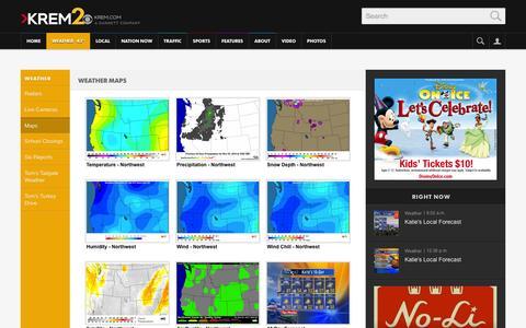 Screenshot of Maps & Directions Page krem.com captured Nov. 3, 2014