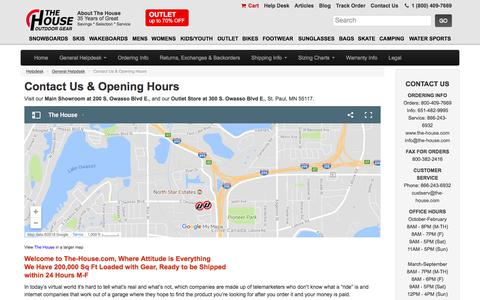 Screenshot of Contact Page Hours Page the-house.com - Contact Us & Opening Hours | The House Helpdesk - captured Jan. 28, 2018