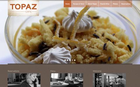 Screenshot of Home Page topazcafe.com - Topaz Café - captured Dec. 16, 2015