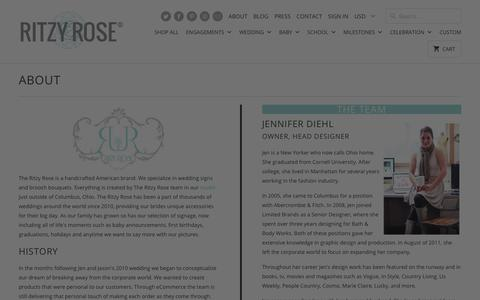 Screenshot of About Page theritzyrose.com - About The Ritzy Rose find the History, Bios, Studios, Made in the USA - captured Sept. 21, 2018