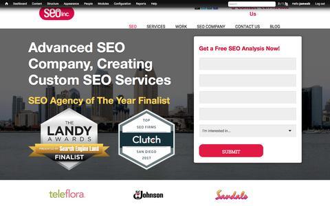 Screenshot of Home Page seoinc.com - SEO Company   SEO Services - Search Engine Optimization - captured Aug. 20, 2018