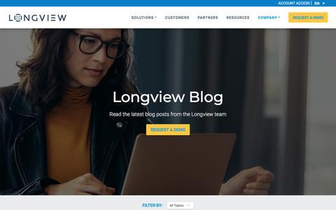 Screenshot of Blog longview.com - Blog Posts - Longview - captured Aug. 7, 2019