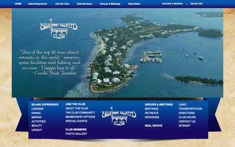 Screenshot of Home Page useppa.com - Useppa Island | Exclusive Private Island Club Off Florida's Southwest Coast - captured Oct. 7, 2014