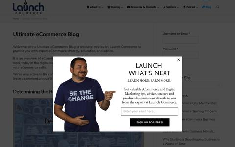 Screenshot of Blog launchcommerce.com - Ultimate eCommerce Blog - Commerce & Digital Marketing Information - captured Oct. 14, 2018