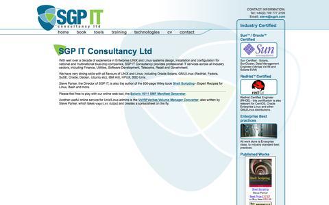 Screenshot of Home Page sgpit.com - SGP IT  : SGP IT Consultancy Ltd - captured Nov. 17, 2016
