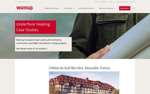 Screenshot of Case Studies Page warmup.com - Warmup Floor Heating Case Studies | Warmup - captured Nov. 28, 2016