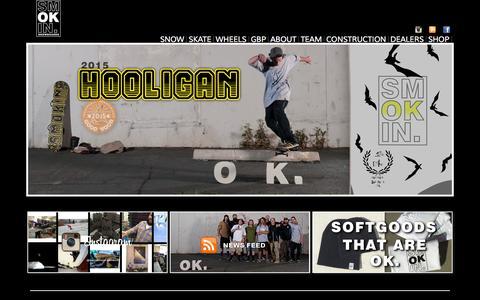 Screenshot of Home Page smokinsnowboards.com - SMOKIN' SNOWBOARDS, HAND MADE LAKE TAHOE USA - captured Sept. 30, 2014