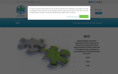 Screenshot of Team Page nnpartners.nl - MVO = Duurzaam ondernemen - N&N Partners - captured Sept. 30, 2014