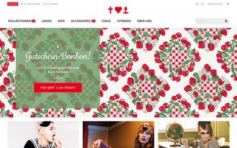 Screenshot of Home Page blutsgeschwister.de - Fashion online shop - Ladies & Kids - Blutsgeschwister Fashion Online Shop - captured Nov. 19, 2017